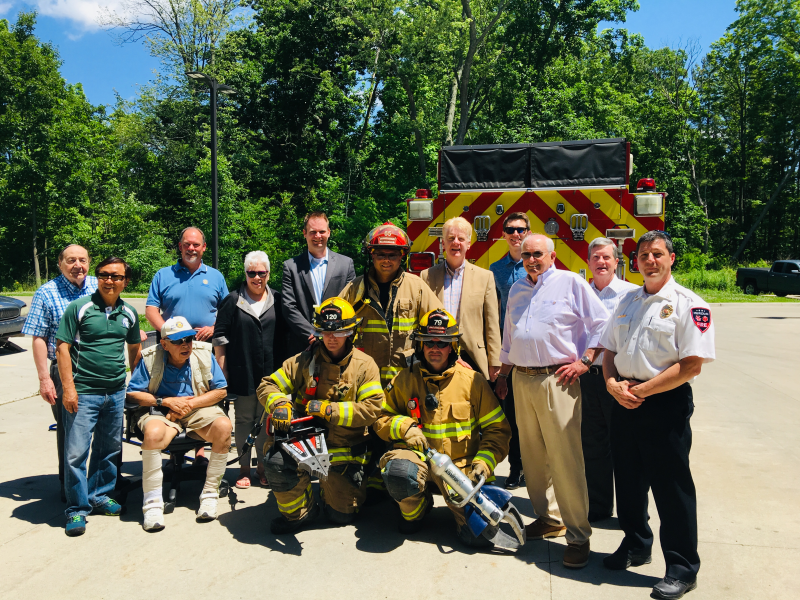 "Dedication of the Meridian Township Fire Departments new ""Jaws of Life"" equipment."
